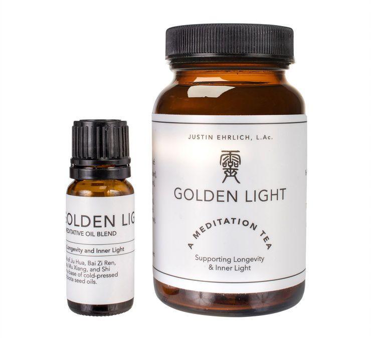 Introducing Golden Light meditation tea and oils